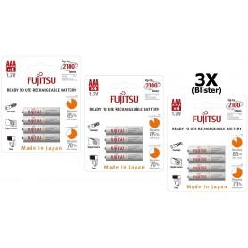 Fujitsu - Fujitsu AAA R3 HR-4UTC 800mAh Rechargeable Batteries - Size AAA - BL213-3x www.NedRo.us