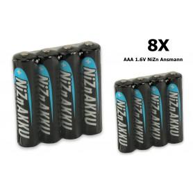 Ansmann - AAA 1.6V NiZn Ansmann Oplaadbaar Batterijen 550mAh - AAA formaat - NK186-8x www.NedRo.nl