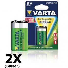 Varta - Varta Oplaadbare Batterij 9V E-Block 200mAh - Andere formaten - ON1329-2x www.NedRo.nl