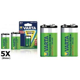 Varta - Varta Oplaadbare Batterij 9V E-Block 200mAh - Andere formaten - ON1329-5x www.NedRo.nl