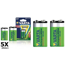 Varta - Varta Rechargable Battery 9V E-Block 200mAh - Other formats - ON1329-5x www.NedRo.us