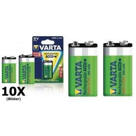 Varta - Varta Oplaadbare Batterij 9V E-Block 200mAh - Andere formaten - ON1329-10x www.NedRo.nl
