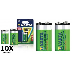 Varta - Varta Rechargable Battery 9V E-Block 200mAh - Other formats - ON1329-10x www.NedRo.us