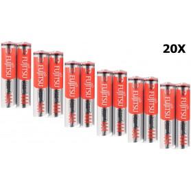 Fujitsu - Fujitsu Alkaline Universal Power LR03 AAA batteries - Size AAA - NK041-20x www.NedRo.us