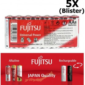 Fujitsu - Fujitsu Universal Power Alkaline LR6 AA - AA formaat - BL222-5x www.NedRo.nl