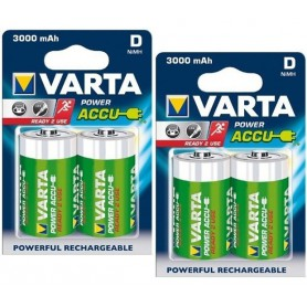 Varta - Varta Rechargable Battery Mono D 3000mAh - Size C D and XL - ON1327-2x www.NedRo.us
