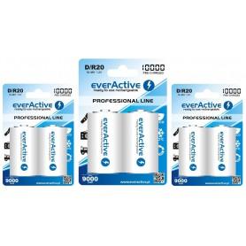 EverActive, R20 D 10000mAh oplaadbare batterij everActive Professional, C D en XL formaat, BL158-CB, EtronixCenter.com