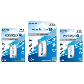EverActive, everActive Ni-MH 9V 6F22 250mAh Silver Line, Andere formaten, BL169-CB, EtronixCenter.com