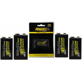 POWEREX - Powerex Precharged 9.6V 230mAh oplaadbaar - Andere formaten - NK166-5x www.NedRo.nl