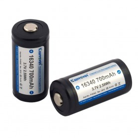 KeepPower - KeepPower 16340 700mAh 1.2A Rechargeable Battery - Other formats - NK074-2x www.NedRo.us