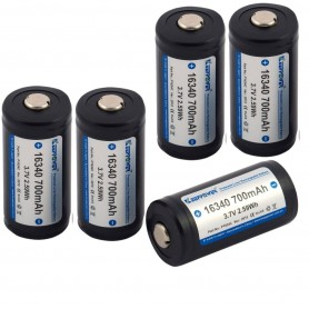 KeepPower - KeepPower 16340 700mAh 1.2A Rechargeable Battery - Other formats - NK074-5x www.NedRo.us