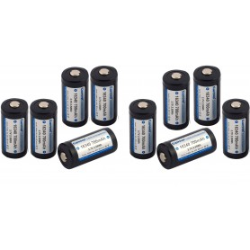 KeepPower - KeepPower 16340 700mAh 1.2A Rechargeable Battery - Other formats - NK074-10x www.NedRo.us