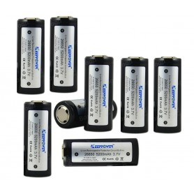 KeepPower - 5200mAh 26650 KeepPower Rechargeable Battery - Size C D and XL - NK084-8x www.NedRo.us