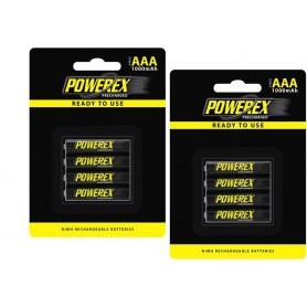 POWEREX - Powerex AAA 1000mAh Rechargeable - Size AAA - NK125-2x www.NedRo.us