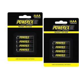 POWEREX - Powerex AAA 1000mAh reincarcabile - Format AAA - NK125-2x www.NedRo.ro
