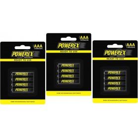 POWEREX, Powerex AAA 1000mAh Oplaadbare Batterij, AAA formaat, NK125-CB, EtronixCenter.com