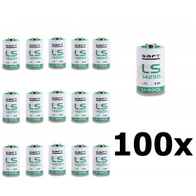 SAFT - SAFT LS14250 / 1/2AA lithium battery 3.6V - Other formats - NK095-100x www.NedRo.us