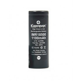 IMR18500 battery 1100mAh 20A max discharge li-ion high drain battery 3.7V