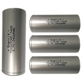 Enercig - Enercig TN26650HP 34A Unprotected - Size C D and XL - NK164-4x www.NedRo.us