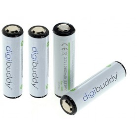 digibuddy - CE Approved 18650 2600mAh 3.7V 5A Li-ion rechargeable battery with PCB - Size 18650 - ON331-4x www.NedRo.us