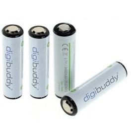 digibuddy - CE Goedgekeurd 18650 2600mAh 3.7V 5A Li-ion herlaadbare accu batterij met PCB - 18650 formaat - ON331-4x www.NedR...