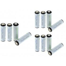 digibuddy - 18650 Li-ion 2600mAh herlaadbare accu batterij - 18650 formaat - ON331-10x www.NedRo.nl