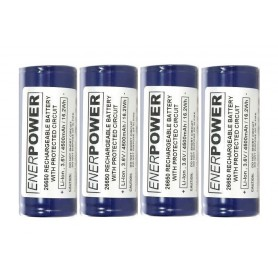Enerpower - Enerpower 26650 4700mAh 14.1A Protected - Size C D and XL - NK142-4x www.NedRo.us