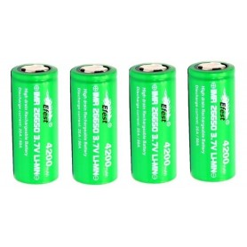 Efest - Efest IMR26650 Green 20A Unprotected - Size C D and XL - NK140-4x www.NedRo.us