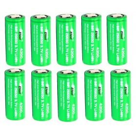 Efest - Efest IMR26650 Green 4200mAh 20A 3.7V onbeschermd - C D en XL formaat - NK140-10x www.NedRo.nl