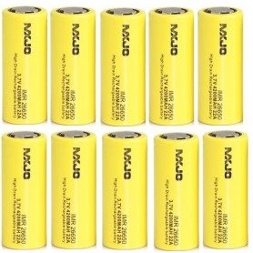 MXJO - MXJO IMR26650F 4200mAh 22A Unprotected - Size C D and XL - NK136-10x www.NedRo.us