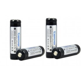 KeepPower - KeepPower 14500 protected li-ion battery 3.7V - Other formats - NK089-4x www.NedRo.us
