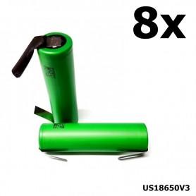 Sony - Sony Konion US18650V3 2250mAh 18650 3.7V 10A Rechargeable - Size 18650 - NK116-8x www.NedRo.us