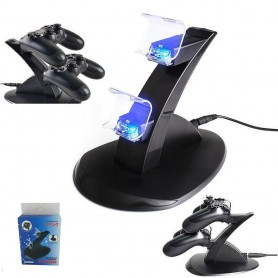 NedRo, Oplaad Station met LED Licht voor twee PS4 Controllers YGP450, PlayStation 4, YGP450, EtronixCenter.com