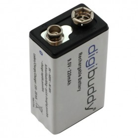 digibuddy - digibuddy Rechargable Battery 9V E-Block 220mAh - Other formats - ON3688 www.NedRo.us