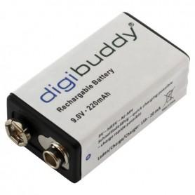digibuddy - digibuddy Oplaadbare Batterij 9V E-Block 220mAh - Andere formaten - ON3688 www.NedRo.nl