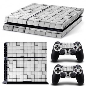 OTB - OTB sticker set compatible with Playstation 4 / PS4 - White tiles - PlayStation 4 - ON3689-C www.NedRo.us