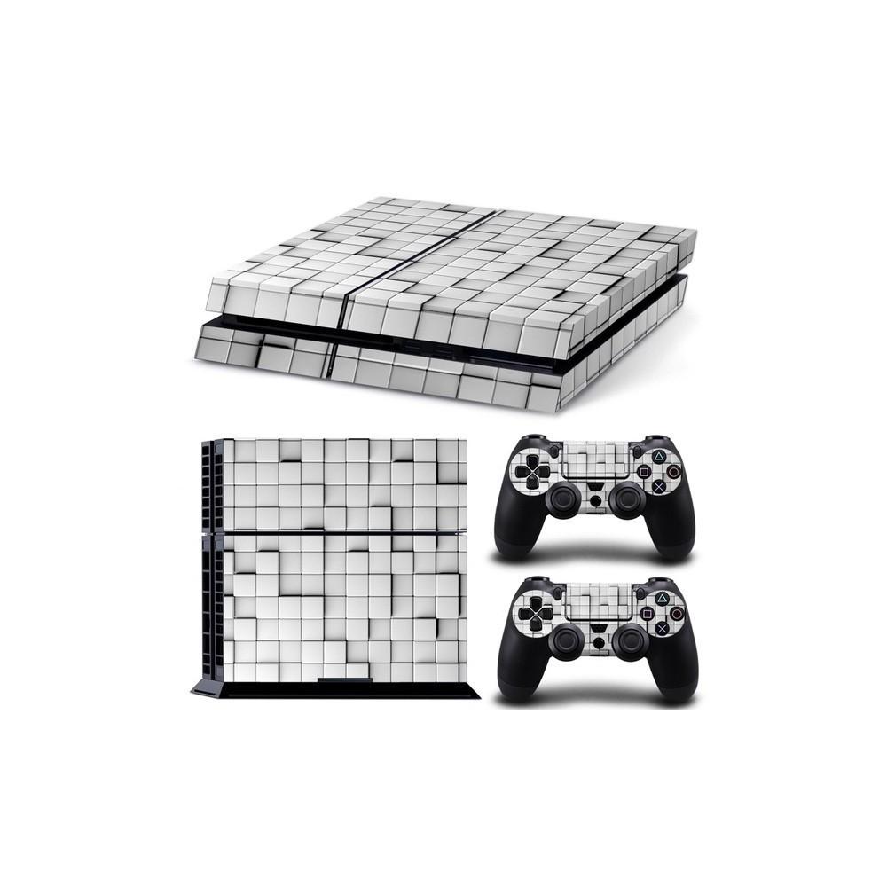 OTB Aufkleberset kompatibel zu Playstation 4 / PS4 - Weiße Fliesen