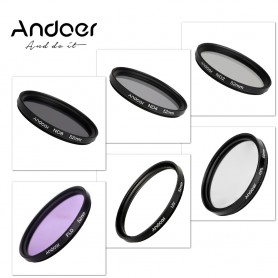 Andoer 52mm UV + CPL + FLD + ND (ND2 ND4 ND8) Fotografie Filter Kit Set