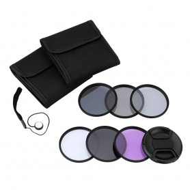 Andoer 52mm UV+CPL+FLD+ND(ND2 ND4 ND8) Photography Filter Kit Set