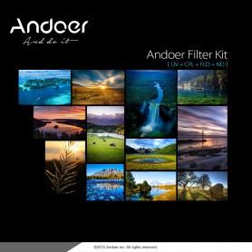 NedRo, Kit de filtrare a fotografiilor Andoer 52mm UV+CPL+FLD+ND(ND2 ND4 ND8), Accesorii foto-video, AL627, EtronixCenter.com