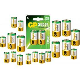 GP, GP Super Alkaline LR14 R14 Tip C Baterie de unică folosință, Format C D 4.5V XL, BS100-CB, EtronixCenter.com
