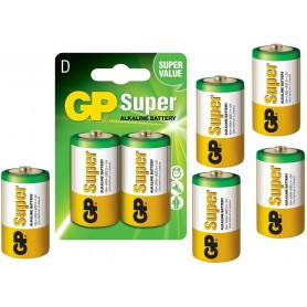 GP - GP Super Alkaline LR20/D battery - Size C D 4.5V XL - BS099-CB www.NedRo.us