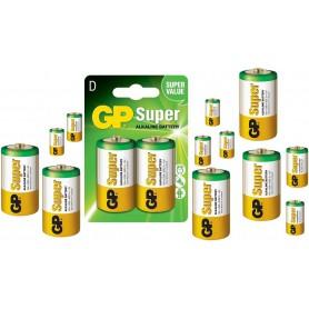GP - Baterie GP Super Alkaline LR20/D - Format C D 4.5V XL - BS099-CB www.NedRo.ro