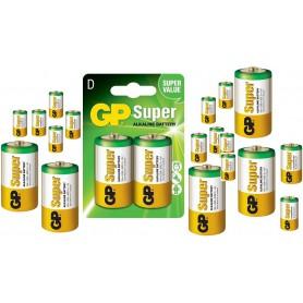 GP - GP Super Alkaline LR20/D batterij - C D 4.5V XL formaat - BL192-50x www.NedRo.nl