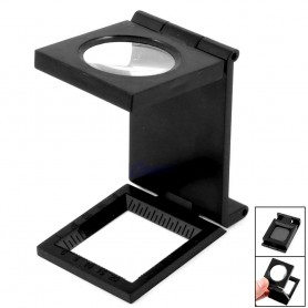 NedRo - 28mm Fold Texture Magnifier 10X Zoom Glass and Scale - Magnifiers microscopes - AL630 www.NedRo.us