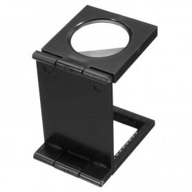 NedRo - Kunststof opvouwbaar dradenteller opzetloep 10X zoom - Loepen en Microscopen - AL630 www.NedRo.nl
