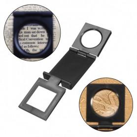 Opvouwbaar dradenteller 10X zoom, compacte opzetloep