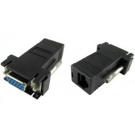 NedRo - VGA female naar CAT5 CAT6 RJ45 Adapter converter (1 stuk) - VGA adapters - AL640 www.NedRo.nl