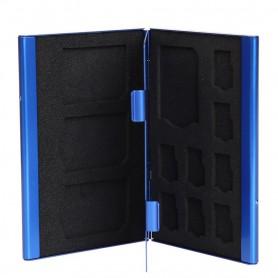 NedRo - TF and SD Memory Cards Aluminium Storage Case - SD and USB Memory - AL643 www.NedRo.us