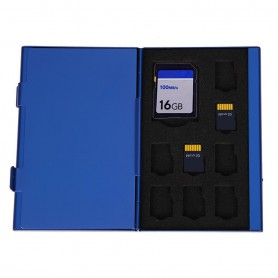 Portable Case Deck Aluminium Alloy 8TF + 4SD Memory Cards Storage